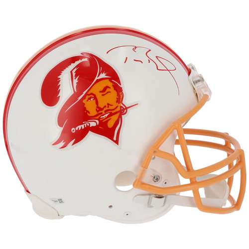 TOM BRADY Autographed Tampa Bay Buccaneers Throwback Proline Helmet FANATICS