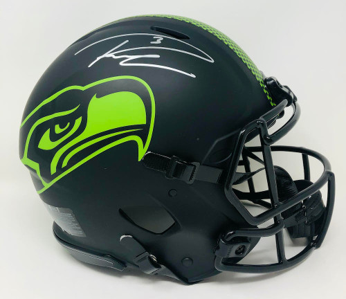 RUSSELL WILSON Autographed Seattle Seahawks Authentic Speed Eclipse Helmet FANATICS