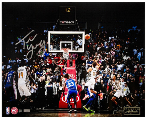 "TRAE YOUNG Autographed Atlanta Hawks ""Game Winner"" 16"" x 20"" Photo PANINI LE 111"