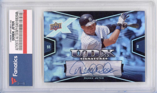 DEREK JETER Autographed New York Yankees 2008 UD Card