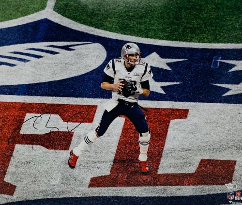 "TOM BRADY Autographed New England Patriots Super Bowl LIII 16"" x 20"" Photograph FANATICS"
