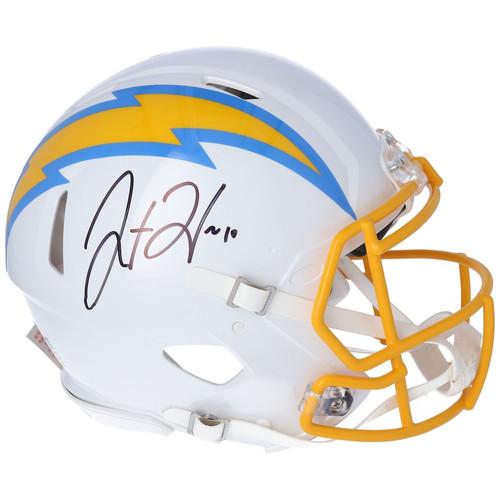 JUSTIN HERBERT Autographed Los Angeles Chargers Authentic Speed Helmet FANATICS