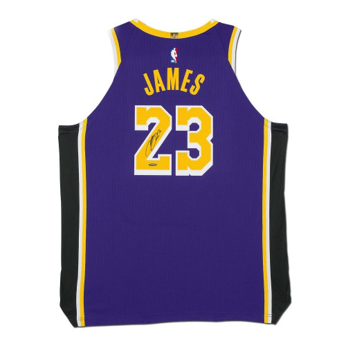 LEBRON JAMES Autographed Los Angeles Lakers Statement Edition Authentic Nike Jersey UDA