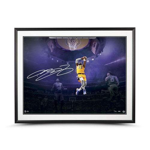 "LEBRON JAMES Autographed ""On This Occassion"" Framed 40"" x 30"" Photo UDA LE 100"