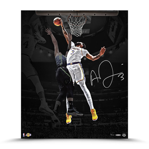 "ANTHONY DAVIS Autographed Los Angeles Lakers ""Rejection"" 20"" x 24"" Photograph UDA LE 100"