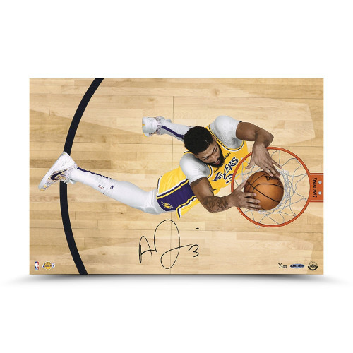 "ANTHONY DAVIS Autographed Los Angeles Lakers ""Prowess"" 16"" x 24"" Photograph UDA LE 100"