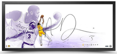 "ANTHONY DAVIS Autographed Los Angeles Lakers 46""x20"" Framed The Show ""Time"" UDA"