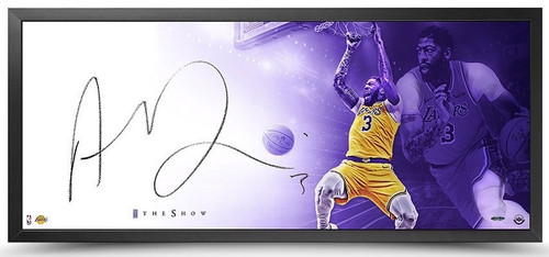 "ANTHONY DAVIS Autographed Los Angeles Lakers 46"" x 20"" Framed The Show UDA"