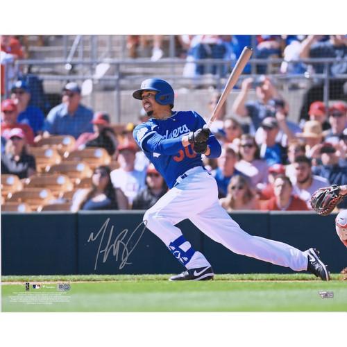"MOOKIE BETTS Los Angeles Dodgers Autographed 16"" x 20"" Hitting Photograph FANATICS"