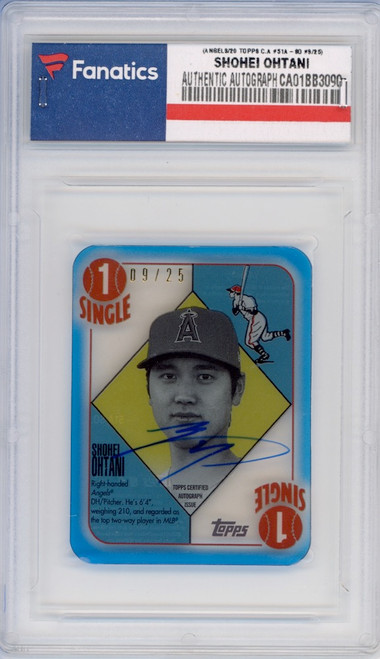 SHOHEI OHTANI Los Angeles Angels Autographed 2020 Topps Clearly Authentic #51A-SO #9/25 Card TOPPS
