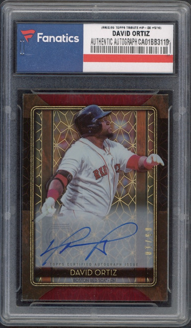 DAVID ORTIZ Boston Red Sox Autographed 2020 Topps Tribute #IP-DO #5/10 Card TOPPS