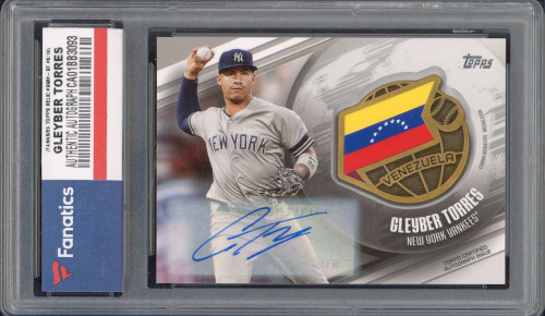 GLEYBER TORRES New York Yankees Autographed 2020 Topps Relic #GGM-GT #8/10 Card TOPPS