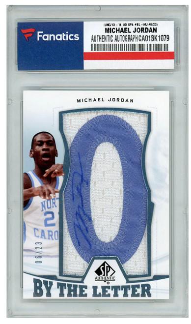 MICHAEL JORDAN Autographed UNC 2013-14 Jersey Patch UD Card LE 6/23
