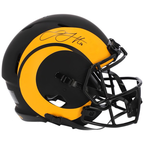 JARED GOFF Autographed LA Rams Speed Eclipse Authentic Helmet FANATICS