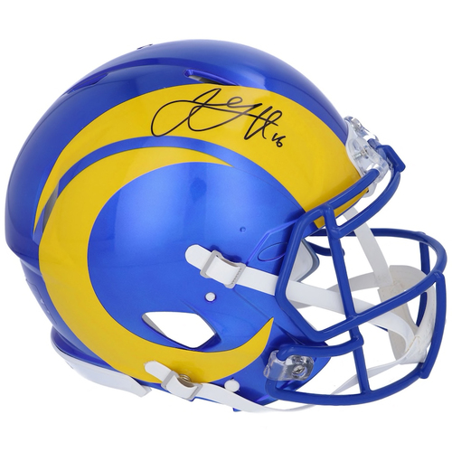 JARED GOFF Autographed LA Rams Speed 2020 Authentic Helmet FANATICS