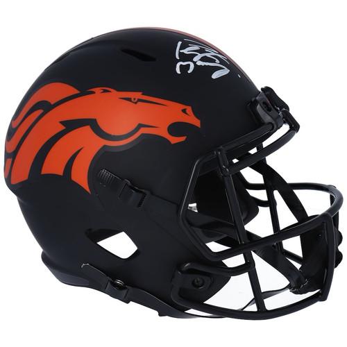 PEYTON MANNING Autographed Denver Broncos Eclipse Full Size Helmet FANATICS