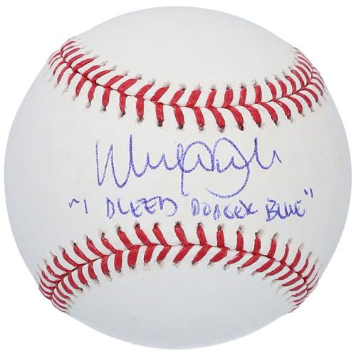 """WALKER BUEHLER Autographed Los Angeles Dodgers """"I Bleed Dodger Blue"""" Inscribed Baseball FANATICS"""