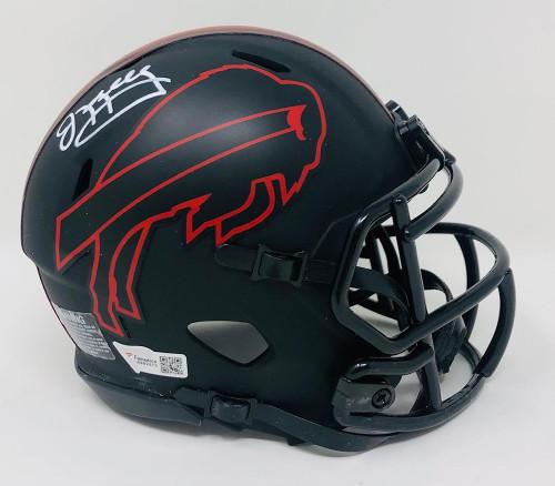 JIM KELLY Autographed Buffalo Bills Riddell Eclipse Alternate Speed Mini Helmet FANATICS