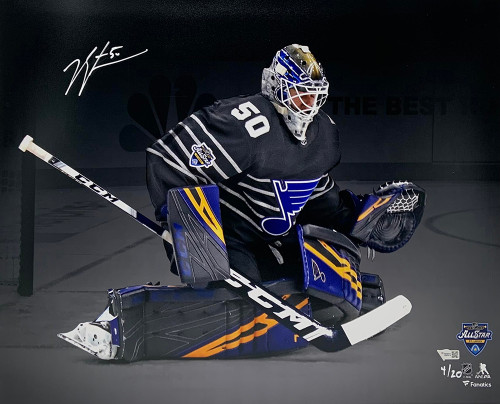 "JORDAN BINNINGTON Autographed St. Louis Blues 2020 All-Star Game 16"" x 20"" Photograph FANATICS Limited to 20"