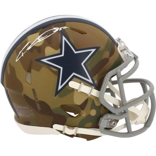 CEEDEE LAMB Autographed Dallas Cowboys CAMO Alternate Speed Mini Helmet FANATICS