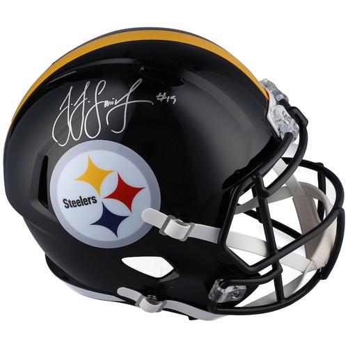 JUJU SMITH-SCHUSTER Autographed Pittsburgh Steelers Speed Full Size Helmet FANATICS