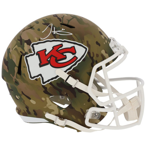 TYREEK HILL Autographed Kansas City Chiefs Camo Speed Full Size Helmet FANATICS