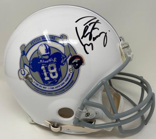 PEYTON MANNING Autographed Denver Broncos/Indianapolis Colts Commemorative Retirement Pro-Line Helmet FANATICS