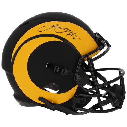 JARED GOFF Autographed Los Angeles Rams Eclipse Speed Full Size Helmet FANATICS
