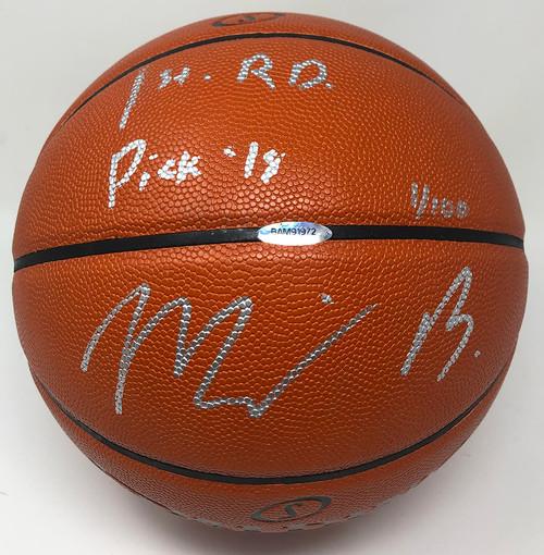 "MILES BRIDGES Autographed ""1st Rd Pick"" Charlotte Hornets Spalding Basketball UDA LE 1/100"