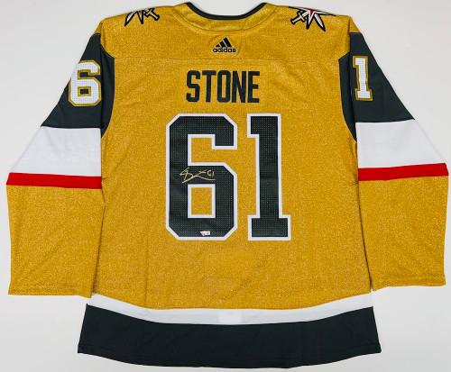 MARK STONE Autographed Las Vegas Golden Knights Gold Alternate Adidas Jersey FANATICS