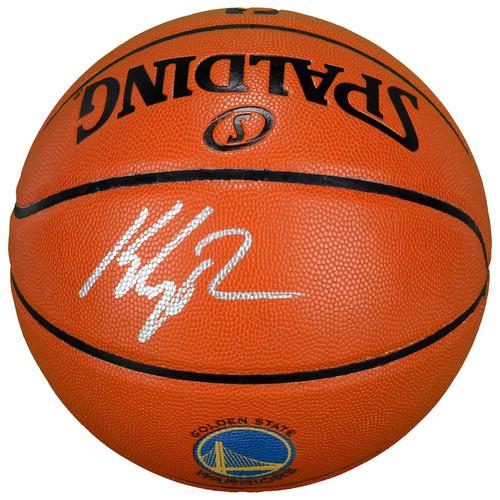 KLAY THOMPSON Autographed Golden State Warriors Logo Game Ball Series Basketball FANATICS