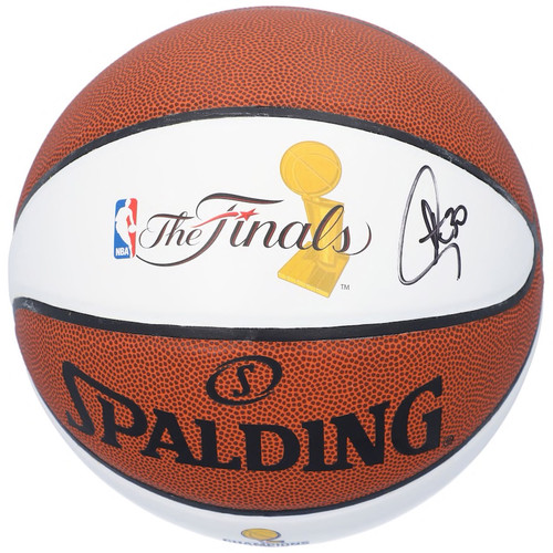STEPHEN CURRY Autographed Golden State Warriors 2018 NBA Finals Champions White Panel Basketball FANATICS