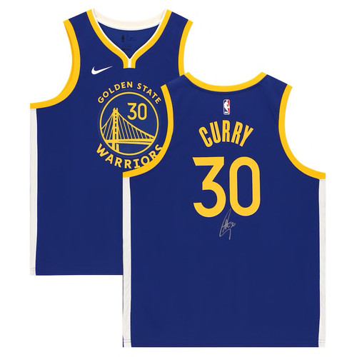 STEPHEN CURRY Autographed Golden State Warriors Blue Nike 19-20 Swingman Jersey FANATICS