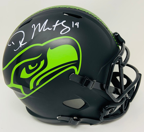 D.K. METCALF Autographed Seattle Seahawks Eclipse Speed Full Size Helmet FANATICS
