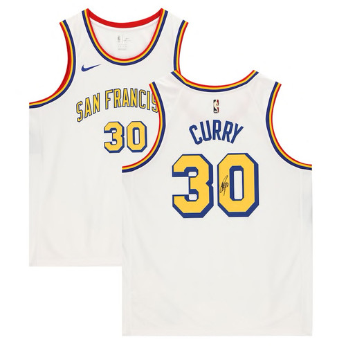 STEPHEN CURRY Autographed Golden State Warriors White Nike San Francisco Edition Swingman Jersey FANATICS