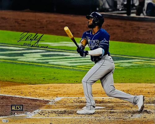 "RANDY AROZARENA Autographed / Inscribed ""2020 ALCS MVP"" Tampa Bay Rays 16"" x 20"" Photograph FANATICS"