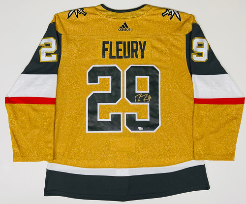 MARC-ANDRE FLEURY Autographed Vegas Golden Knights Gold Alternate Adidas Authentic Jersey FANATICS