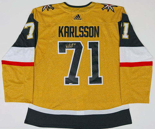 WILLIAM KARLSSON Autographed Vegas Golden Knights Gold Alternate Adidas Authentic Jersey FANATICS