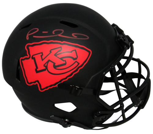 PATRICK MAHOMES Autographed Kansas City Chiefs Full Size Speed Eclipse Helmet FANATICS