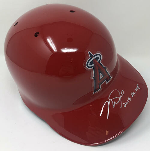 "MIKE TROUT Autographed Los Angeles Angels ""2019 AL MVP"" Authentic Batting Helmet MLB AUTHENTICATED"