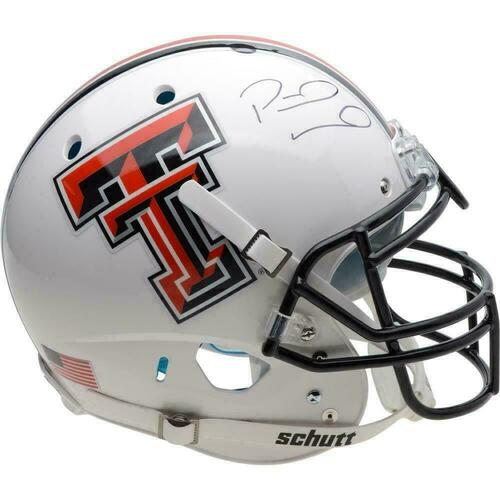 PATRICK MAHOMES Autographed Texas Tech Authentic White Helmet FANATICS