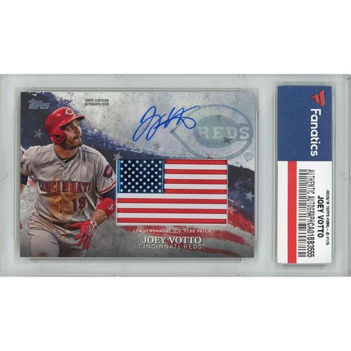 JOEY VOTTO Autographed Cincinnati Reds 18 TOPPS Series 2 Patch Card FANATICS LE 1/5