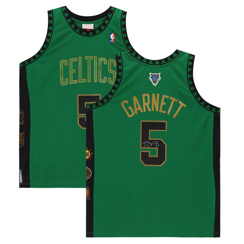 KEVIN GARNETT Autographed Boston Celtics Green Hall of Fame Jersey FANATICS
