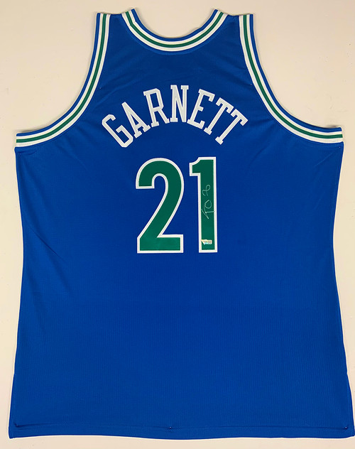 KEVIN GARNETT Autographed Minnesota Timberwolves Blue 1995-1996 Mitchell and Ness Authentic Jersey FANATICS