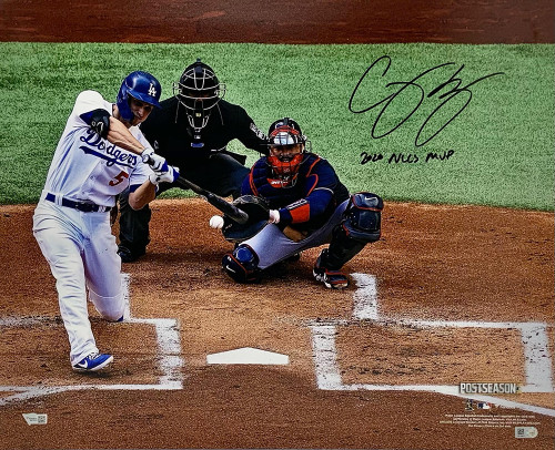 "COREY SEAGER Autographed / Inscribed  ""2020 NLCS MVP"" Los Angeles Dodgers 2020 NLCS Game 6 Home Run 16"" x 20"" Photograph FANATICS"