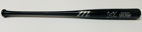 "COREY SEAGER Los Angeles Dodgers Autographed / Inscribed ""2020 WS MVP"" Black Game Model Marucci Bat FANATICS"