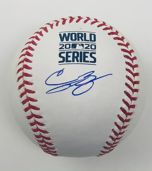 CODY BELLINGER Los Angeles Dodgers Autographed 2020 World Series Logo Baseball FANATICS
