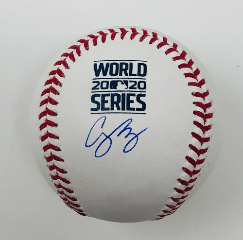 COREY SEAGER Los Angeles Dodgers Autographed 2020 World Series Logo Baseball FANATICS