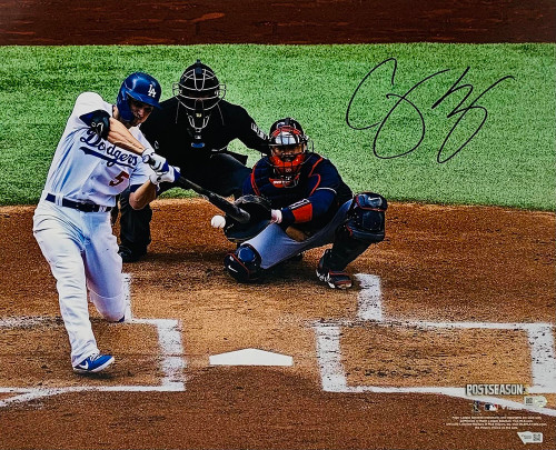 """COREY SEAGER Autographed Los Angeles Dodgers 2020 NLCS Game 6 Home Run 16"""" x 20"""" Photograph FANATICS"""
