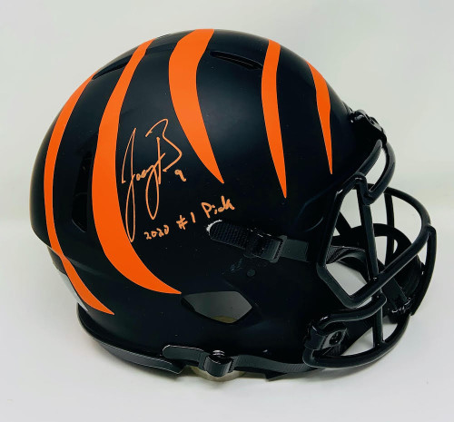 "JOE BURROW Autographed / Inscribed ""2020 #1 Draft Pick"" Cincinnati Bengals Eclipse Authentic Helmet FANATICS"